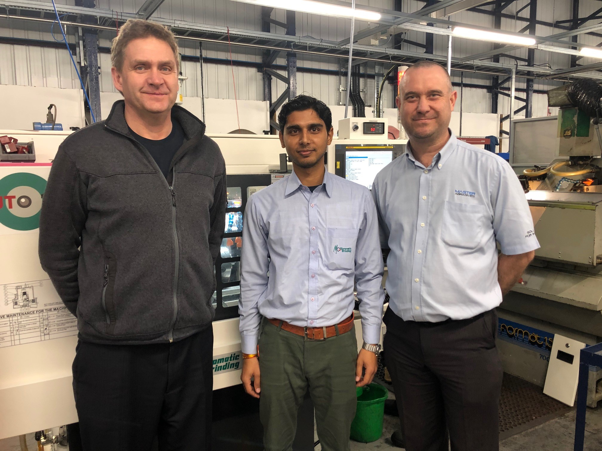Andreas Hohmann, Nitin Kumar from Micromatic Grinding Technologies and Ian Meredith
