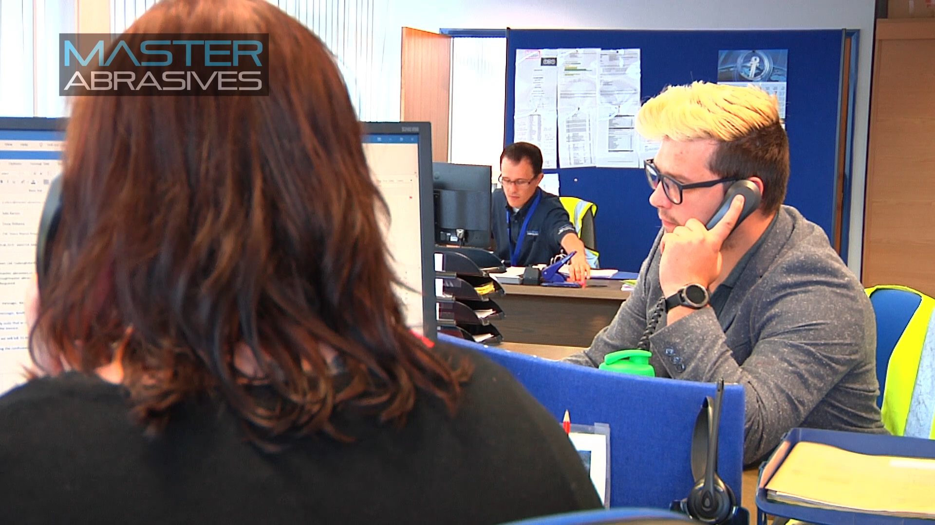 The video features some employees from the company's different departments, including the Customer Service team