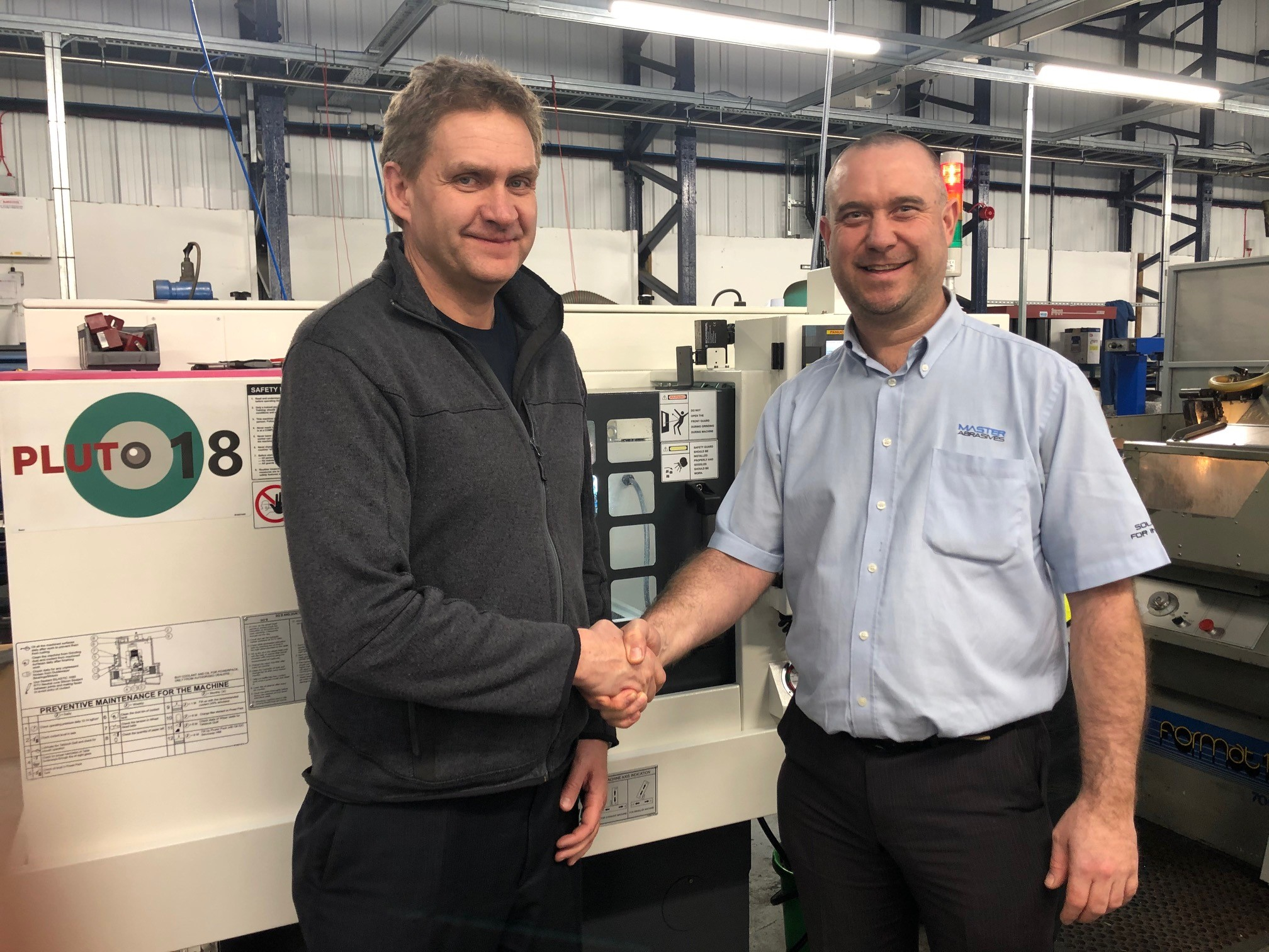 Andreas Hohmann, Managing Director at Total Carbide, and Ian Meredith, Applications Engineering Manager at Master Abrasives