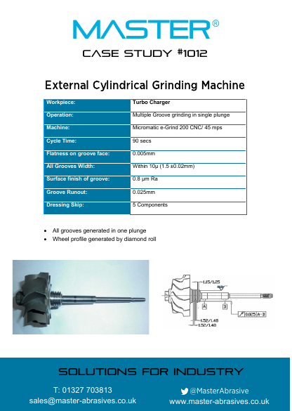 Master Case Study 1012 (External Cylindrical Grinding Machine)