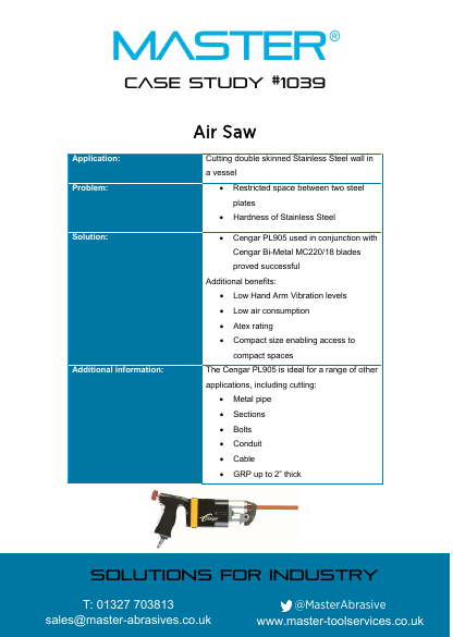 Master Case Study 1039 (Air Saw)