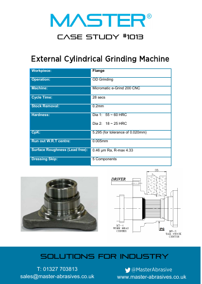 Master Case Study 1013 (External Cylindrical Grinding Machine)