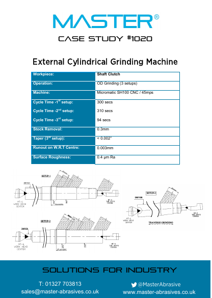 Master Case Study 1020 (External Cylindrical Grinding Machine)