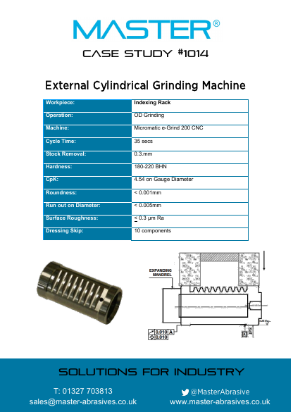 Master Case Study 1014 (External Cylindrical Grinding Machine)