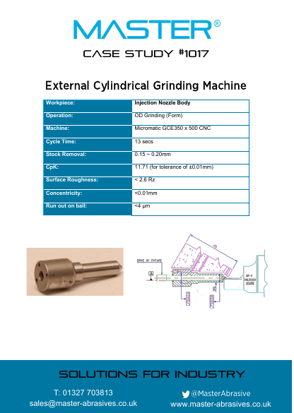 Master Case Study 1017 (External Cylindrical Grinding Machine)