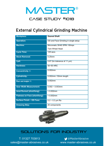 Master Case Study 1018 (External Cylindrical Grinding Machine)