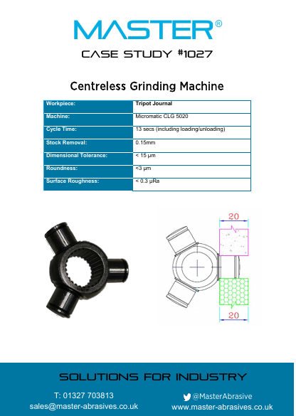 Master Case Study 1027 (Centreless Grinding Machine)