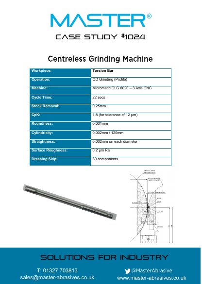 Master Case Study 1024 (Centreless Grinding Machine)