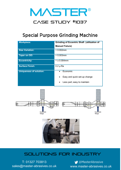 Master Case Study 1037 (Special Purpose Grinding Machine)