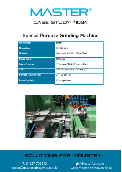 Master Case Study 1034 (Special Purpose Grinding Machine)