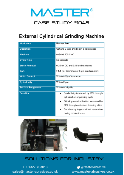 Master Case Study 1045 (External Cylindrical Grinding Machine - Rocker Arm)