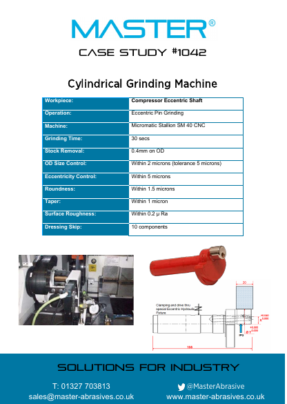 Master Case Study 1042 (Cylindrical Grinding Machine)
