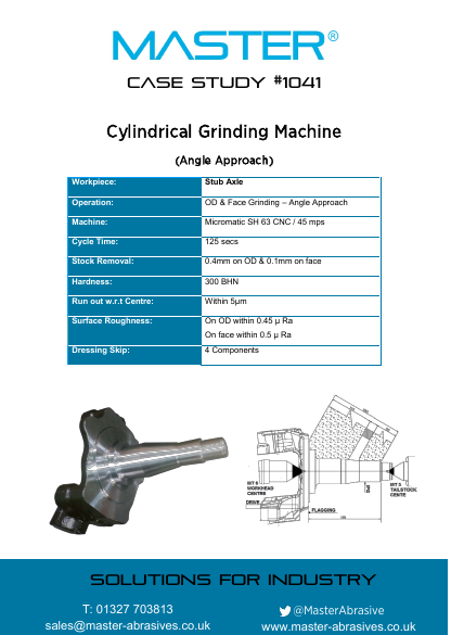 Master Case Study 1041 (Cylindrical Grinding Machine - Angle Approach)